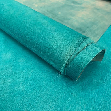 Horsey |  Dyed Cowhide | Turquoise