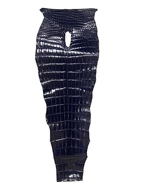 Glazed Porosus Tail   Amethyst Blue