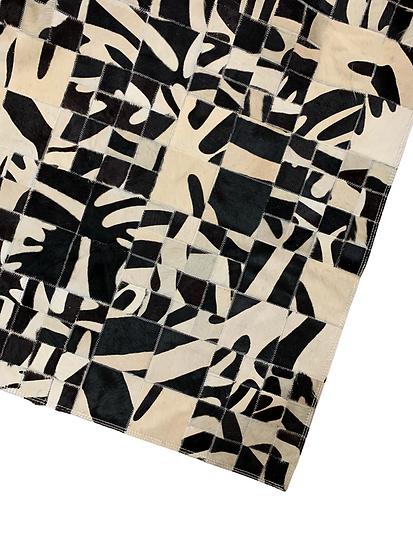 Patchwork Cowhide Rug | Black and White Zebra | 160cm x 180cm