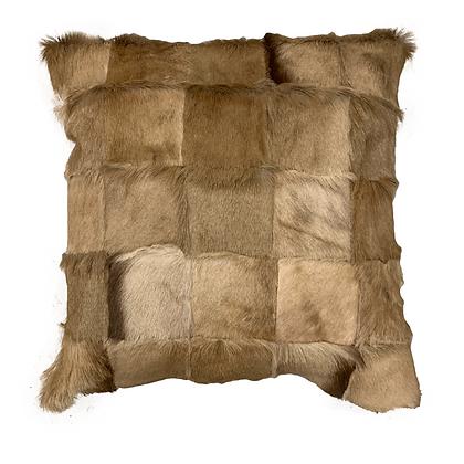 Springbok Patchwork Cushion | Natural Beige | 45cm x 45cm