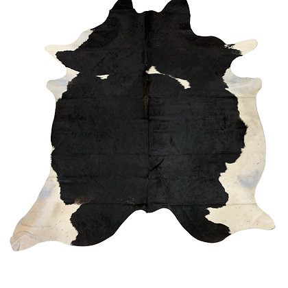 Cowhide Rug   Black and White   L   10112