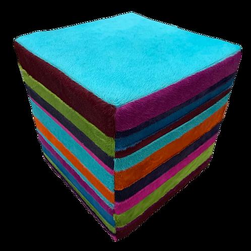 Cube Ottoman   Multi Colour