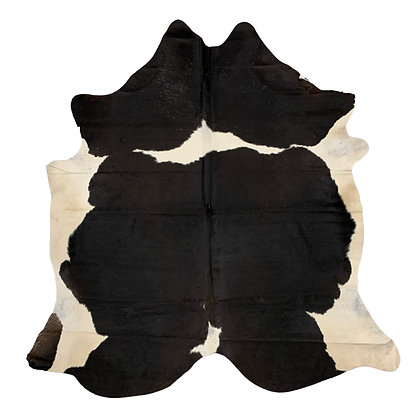 Cowhide Rug   Black and White   L   10229