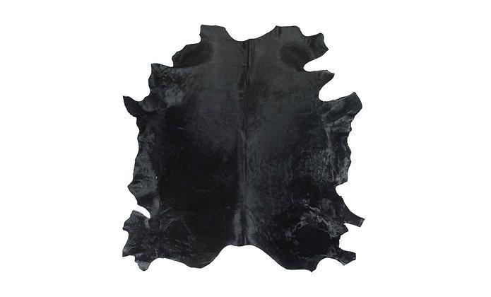 Italian Dyed Cowhide Rug | Black