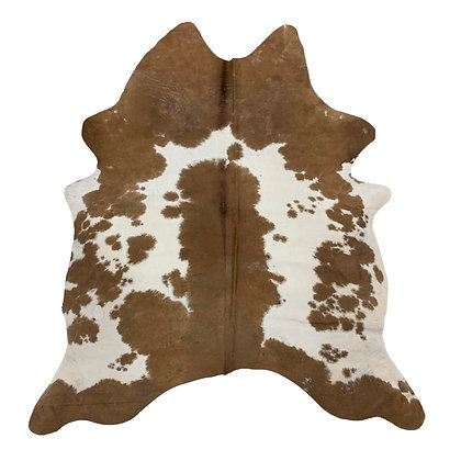 Cowhide Rug   Brown and White   L   10234