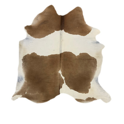 Cowhide Rug   Brown and White   L   10142