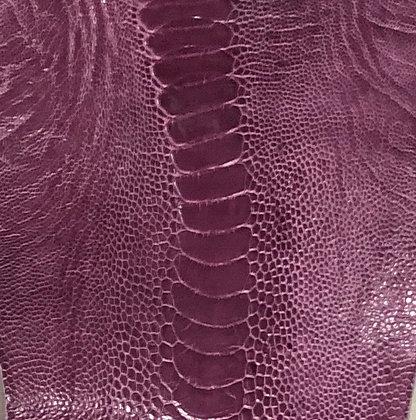Ostrich Leg Leather | Lilac | Glazed Finish