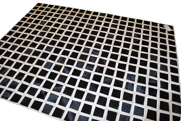 Patchwork Cowhide Rug | Black and White 155 x 195cm