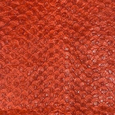 Arapaima Leather | Orange Caqui Shiny