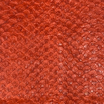 Arapaima Leather | Orange Caqui Shiny