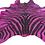 Zebra Printed Cowhide in Pink