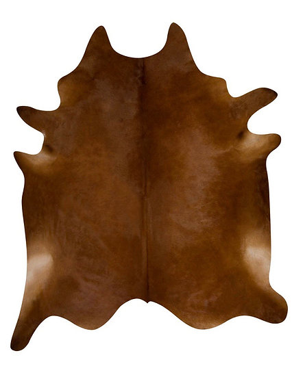Natural Cowhide Rug Brown