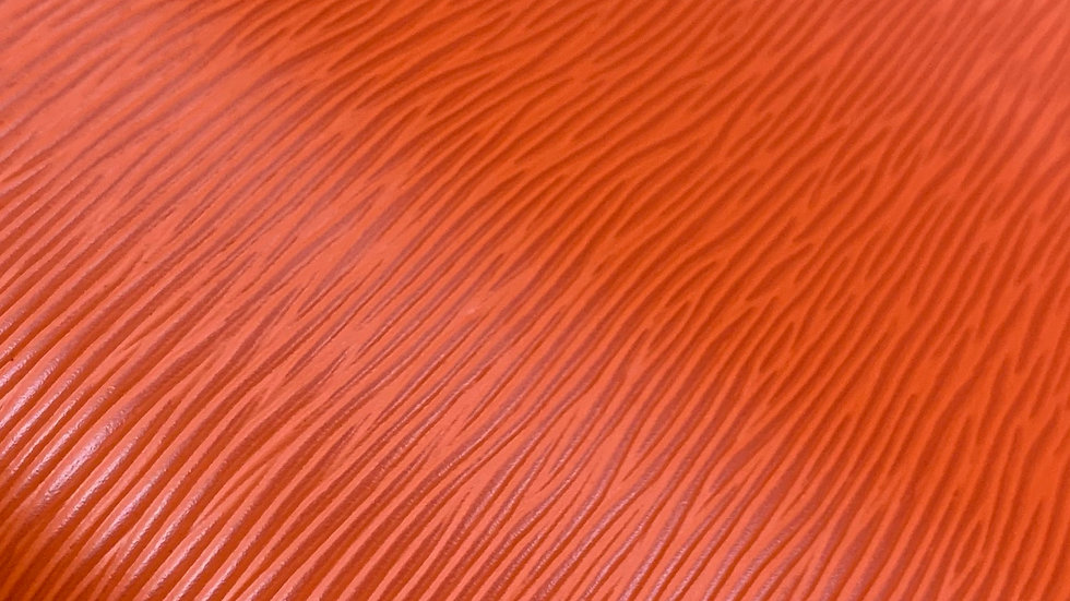 Long Grain EPI Leather | Orange