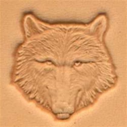 wolf head 3d stamp