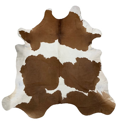 Cowhide Rug   Brown and White   XL   10211