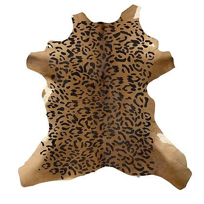 jaguar printed calfskin rug throw