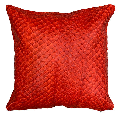 Exotic Pillow | 50cm x 50cm | Pirarucu Red
