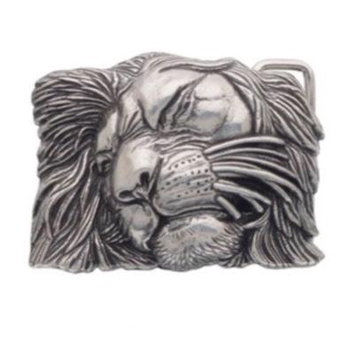 3D Belt Buckle   Lion Head Design