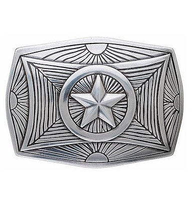 3D Belt Buckle | Geometric Star Design