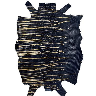 Lizard | Skateonice | Navy with Gold  Metallic