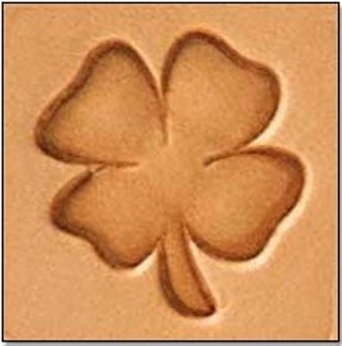 Tandy Leather   4 Leaf Clover 3-D Mini Stamp   8849-00