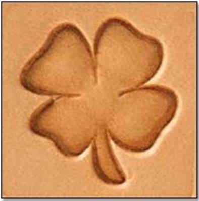Tandy Leather | 4 Leaf Clover 3-D Mini Stamp | 8849-00