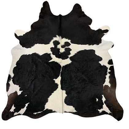 Cowhide Rug   Black and White   L   10124