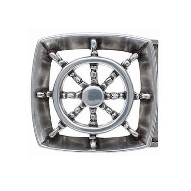 3D Belt Buckle   Ships Wheel Design