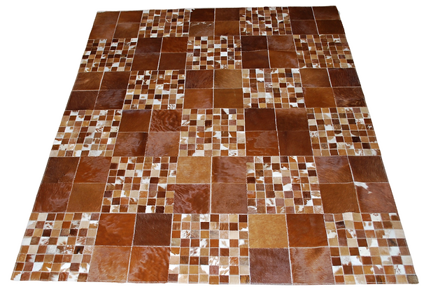Patchwork Cowhide Rug | Natural Browns 200 x 240cm