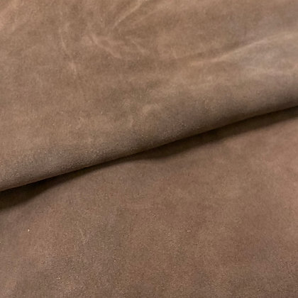 Brown Suede Leather    1.2/1.4mm   Italy