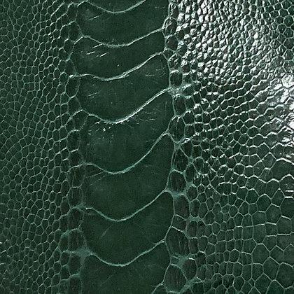 Ostrich Leg Leather | Cyprus Green | Glazed Finish