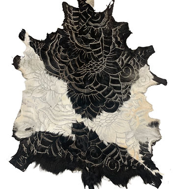 Hand Carved Balinese Goat Hide