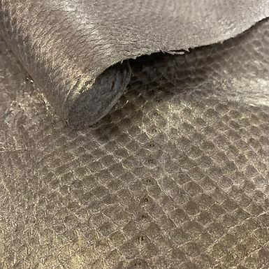 Salmon Leather | Pearlescent Gold Metallic