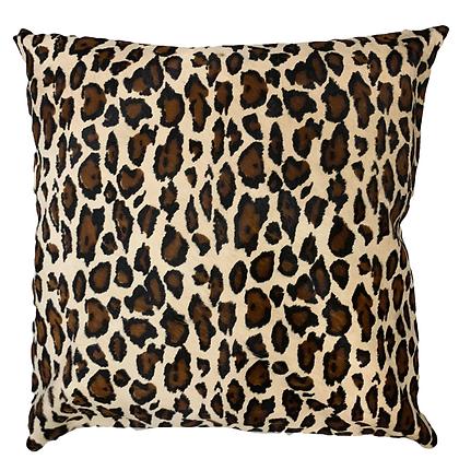 jaguar printed cowhide cushion pillow