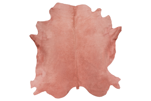Italian Dyed Cowhide Rug Rosa Pink Colour