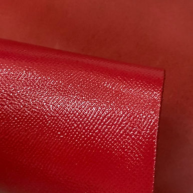 High Gloss Epsom Leather | Red | Italy