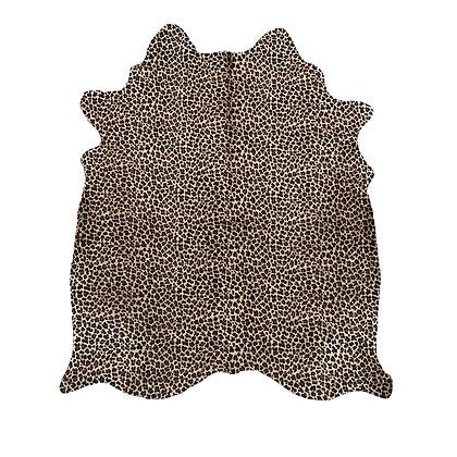 leopard printed cowhide rug