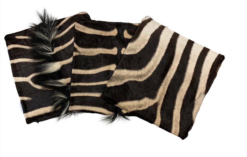 Genuine Zebra Hide Cushions