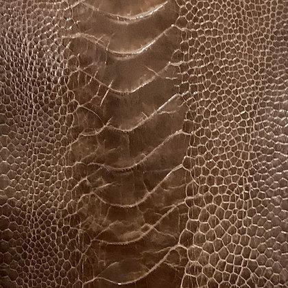 Ostrich Leg Leather | Rugged Brown | Glazed Finish