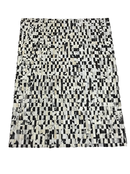 Patchwork Cowhide Rug    Natural Black and White