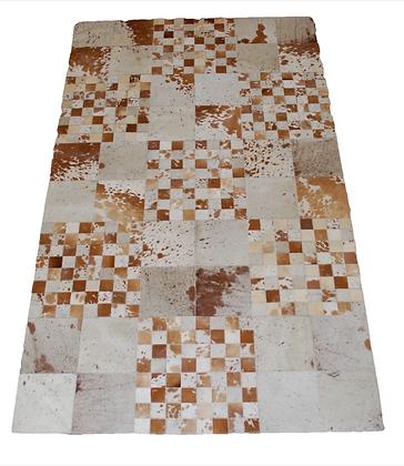 Patchwork Cowhide Rug | Natural Browns 120 x 200cm