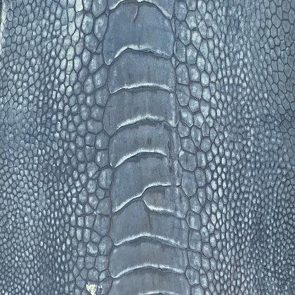 Ostrich Leg Leather   Stonewash   Denim