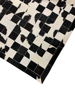 Patchwork Cowhide Rug   Black and White 100 x 150cm