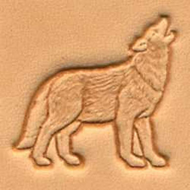 Tandy Leather | Howling Wolf 3-D Stamp | 88475-00
