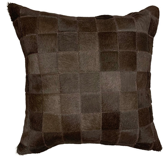 Cowhide Pillow | Dyed Brown | 45cm x 45cm