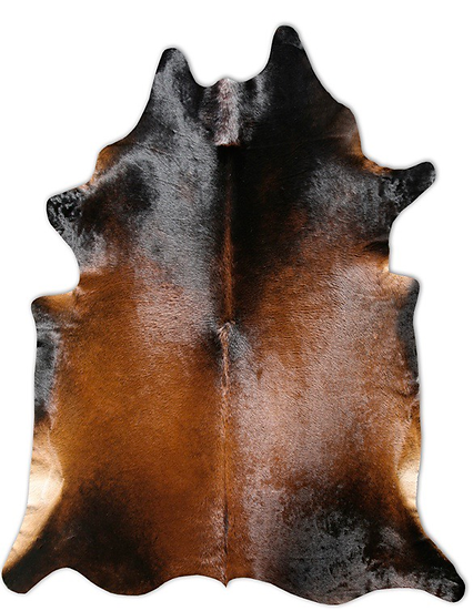 Cowhide Rug Brown Normand Natural