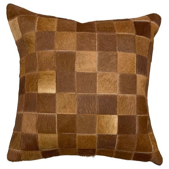 Cowhide Pillow | Natural Brown | 45cm x 45cm