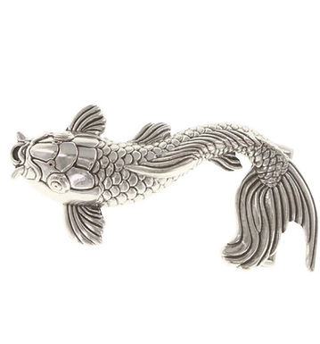 3D Belt Buckle | Koi Fish Design