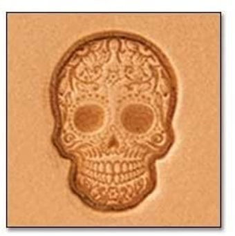 Tandy Leather | Sugar Skull 3-D Mini Stamp | 8863-00