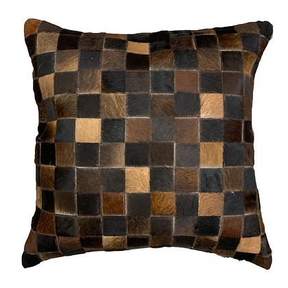 Cowhide Cushion | Chocolate Browns | 60cm x 60cm
